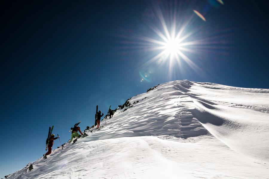 Aufstieg auf den Daunkopf in den Stubaier Alpen