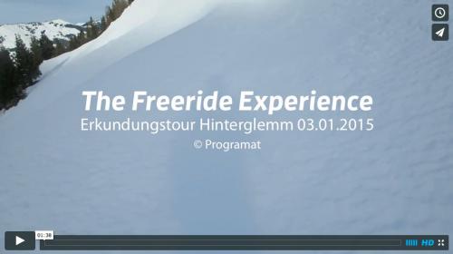 Erkundungstour in Hinterglemm - Freeride Saison 2014/15 gesichert
