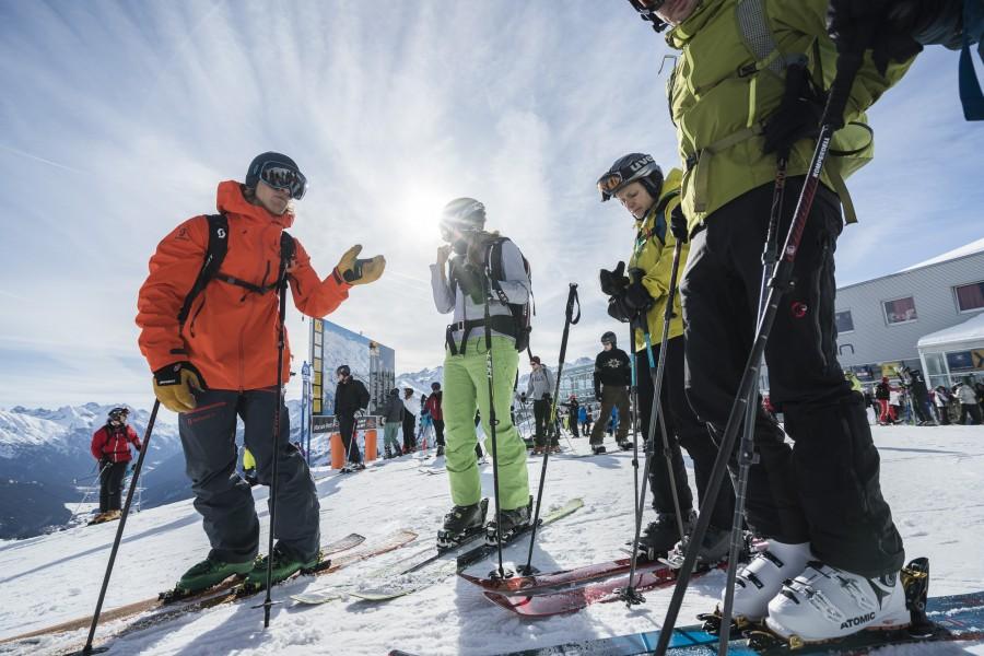 The Freeride Experience Arlberg 2018 mit Guide Björn Heregger - Auffi geht's aufs Beuschel