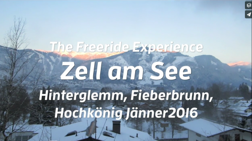 The Freeride Experience Zell am See 2016